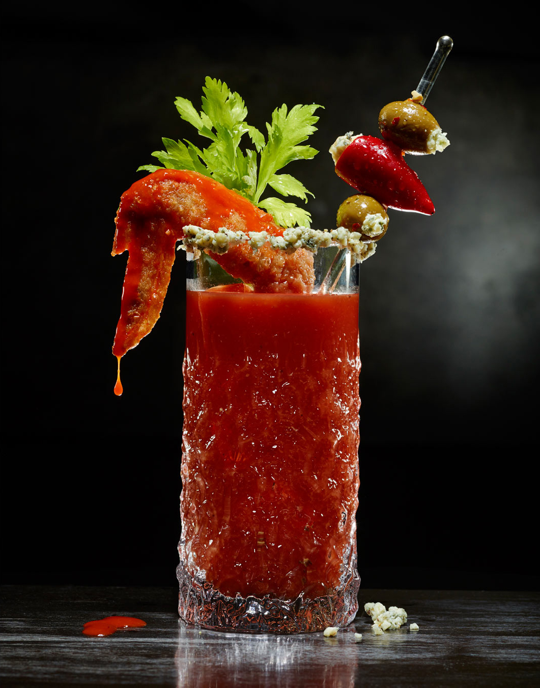 Boozy Buffalo Wing Bloody Mary