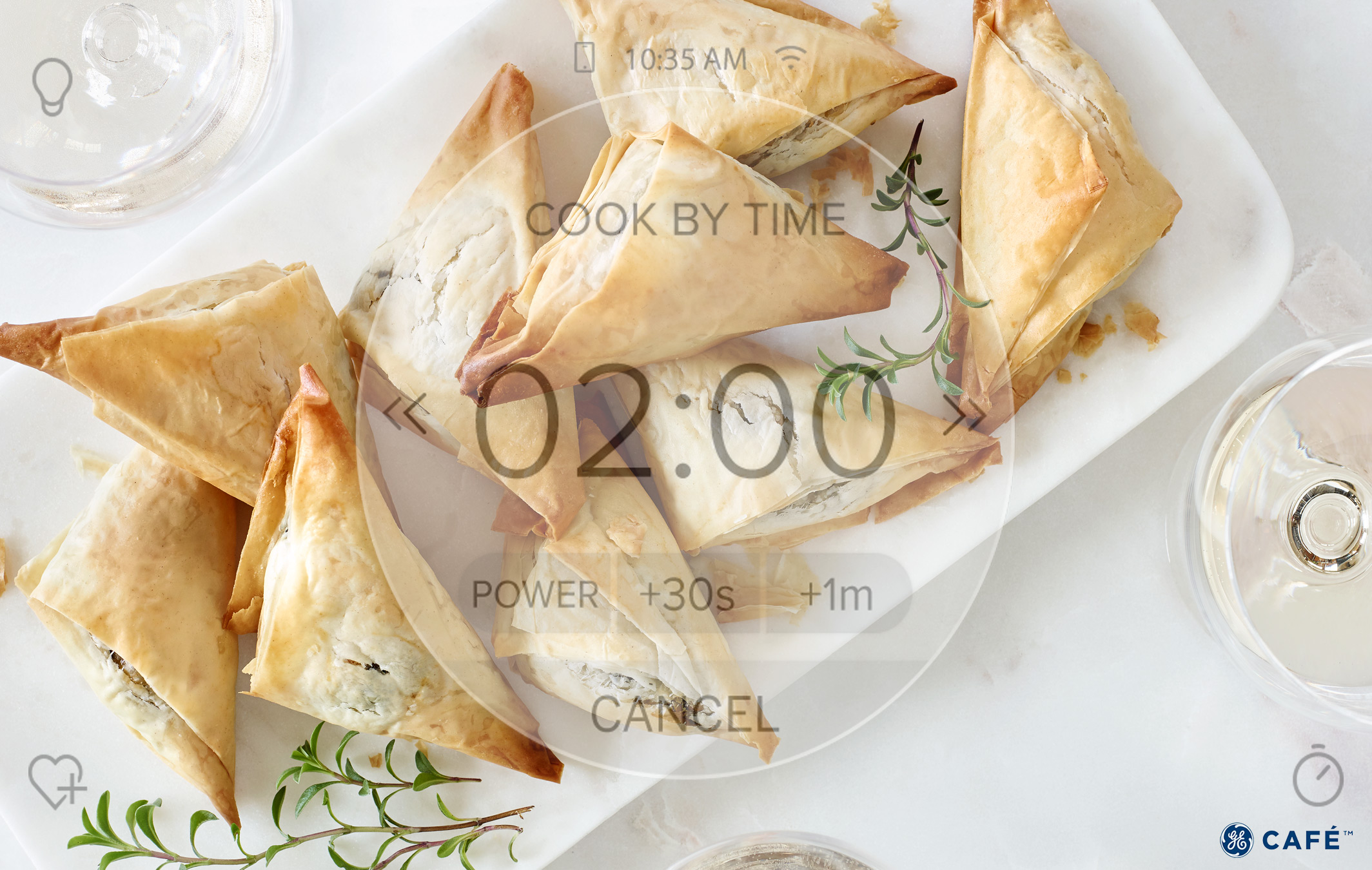 Cheese and Spinach Puff Pastry Triangles