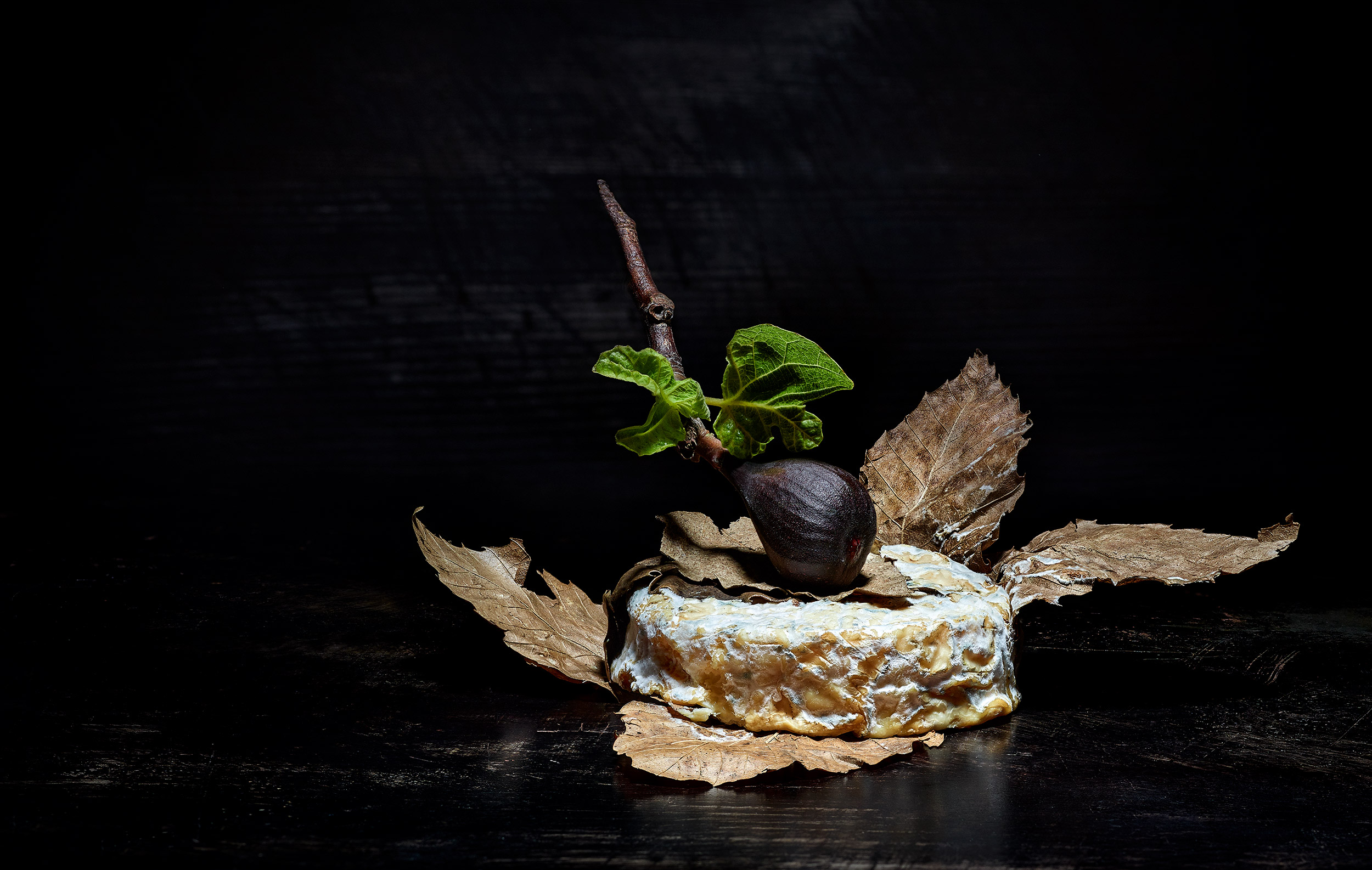 Mothais A La Feuille Chevre with Fresh-Picked Black Mission Fig